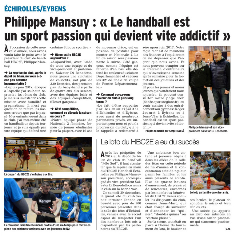 INFO PRESSE : Article DL du 03-01-2019